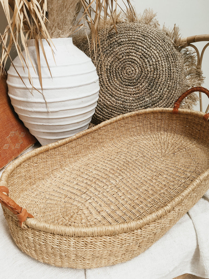 THE BABY CHANGE BASKET - Black Salt Co Coastal Luxe Homewares and Decor
