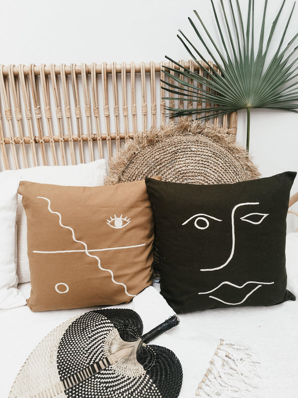 THE FACE CUSHION - Black Salt Co Coastal Luxe Homewares and Decor
