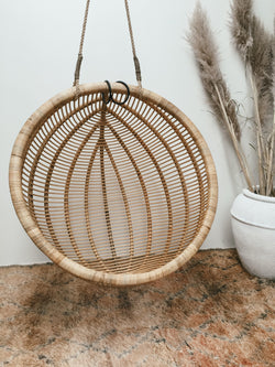 THE BELIZE HANGING CHAIR - Black Salt Co Coastal Luxe Homewares and Decor