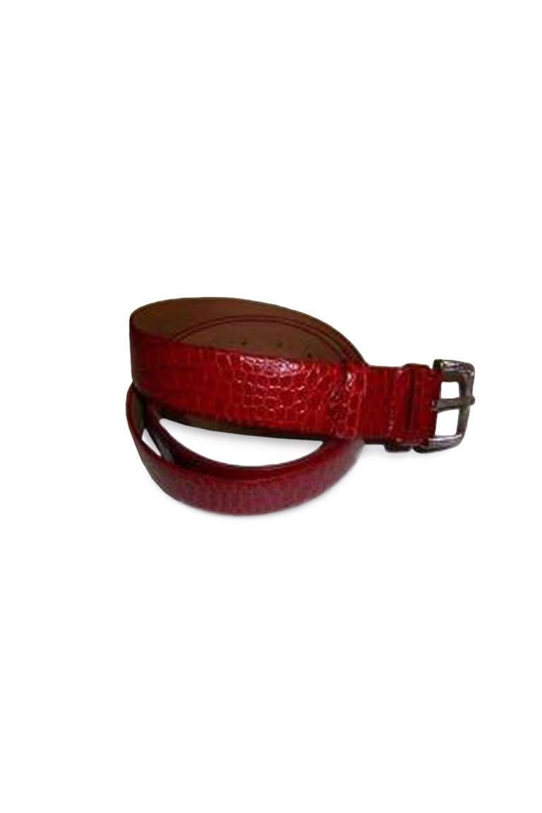 Reptile Leather Belt