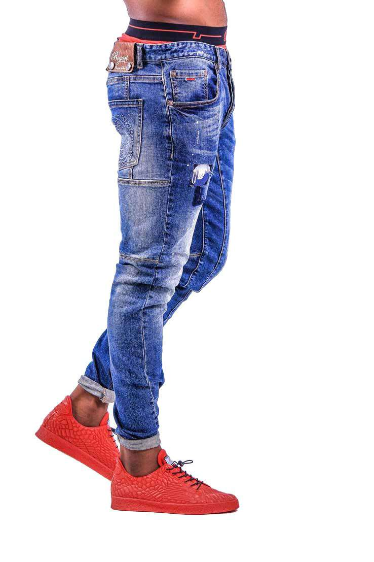 Parallel Stitch Denim-back