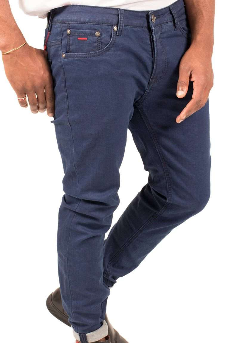 Slim-Fit Turn-up Jeans