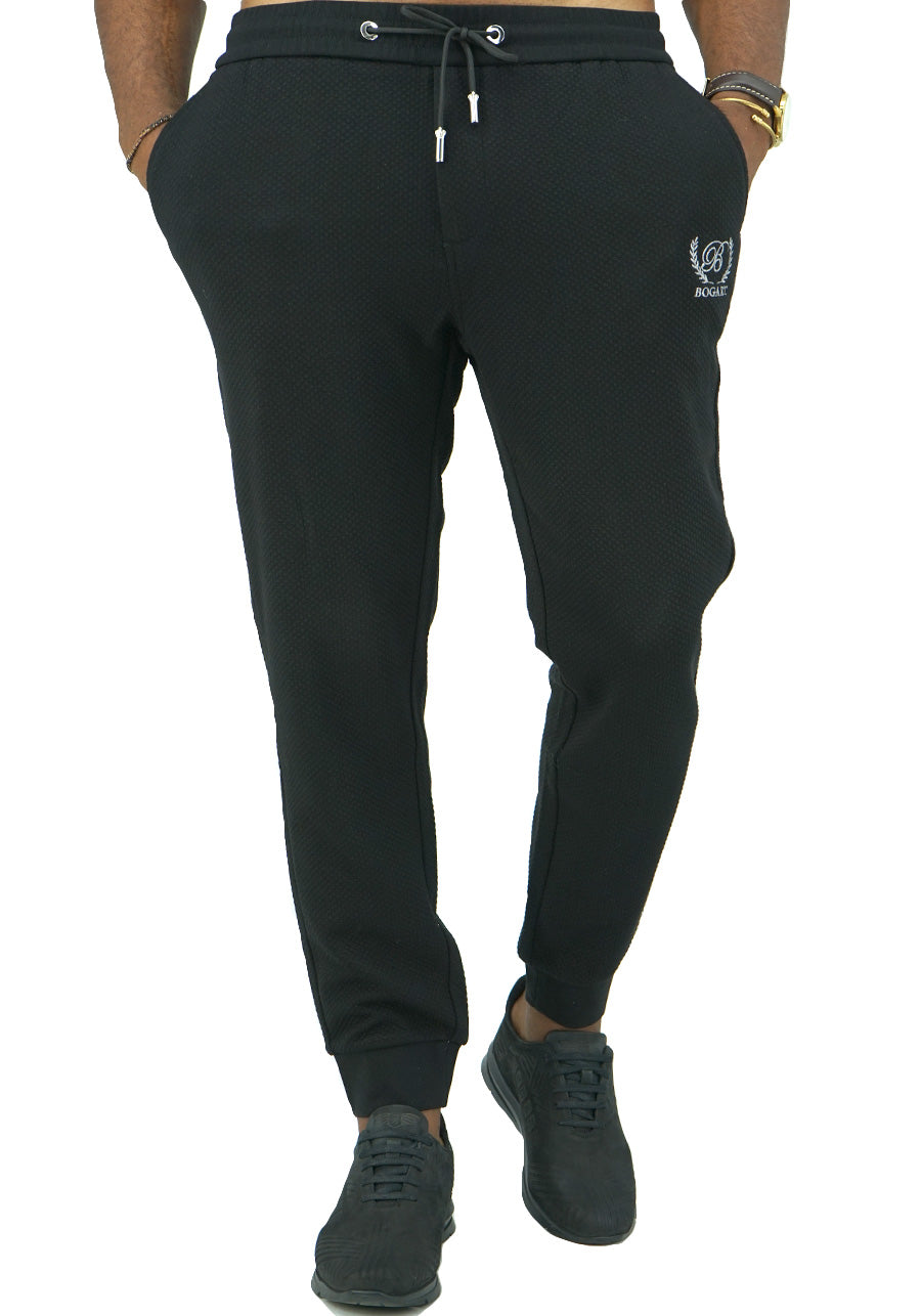 Diamond Track Pants front-Black