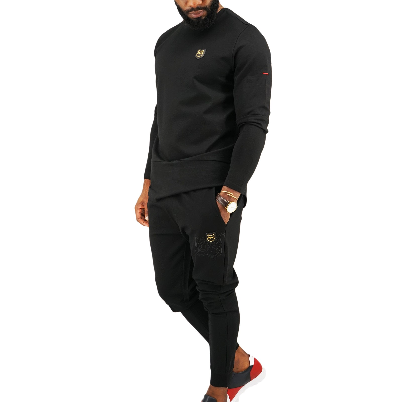 Bogart Space 2 Piece Tracksuit-Black