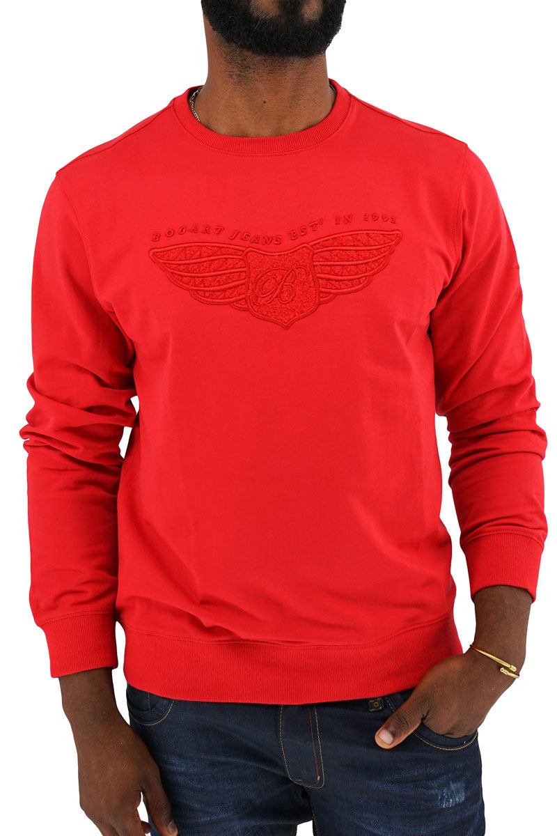 Cotton Wing Sweater front-Red