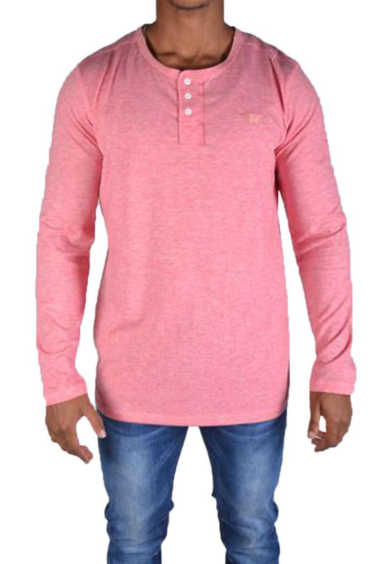 Button-up Crew Neck Long Sleeve
