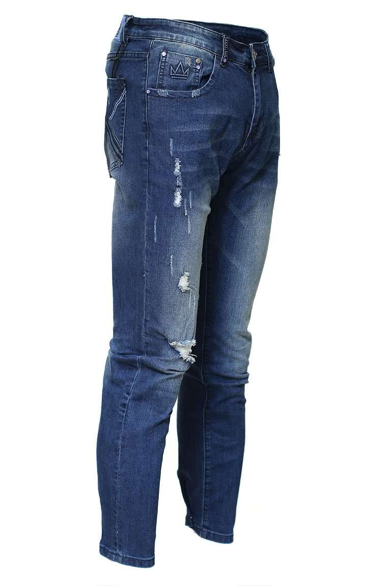 Silver Patch Denim-front
