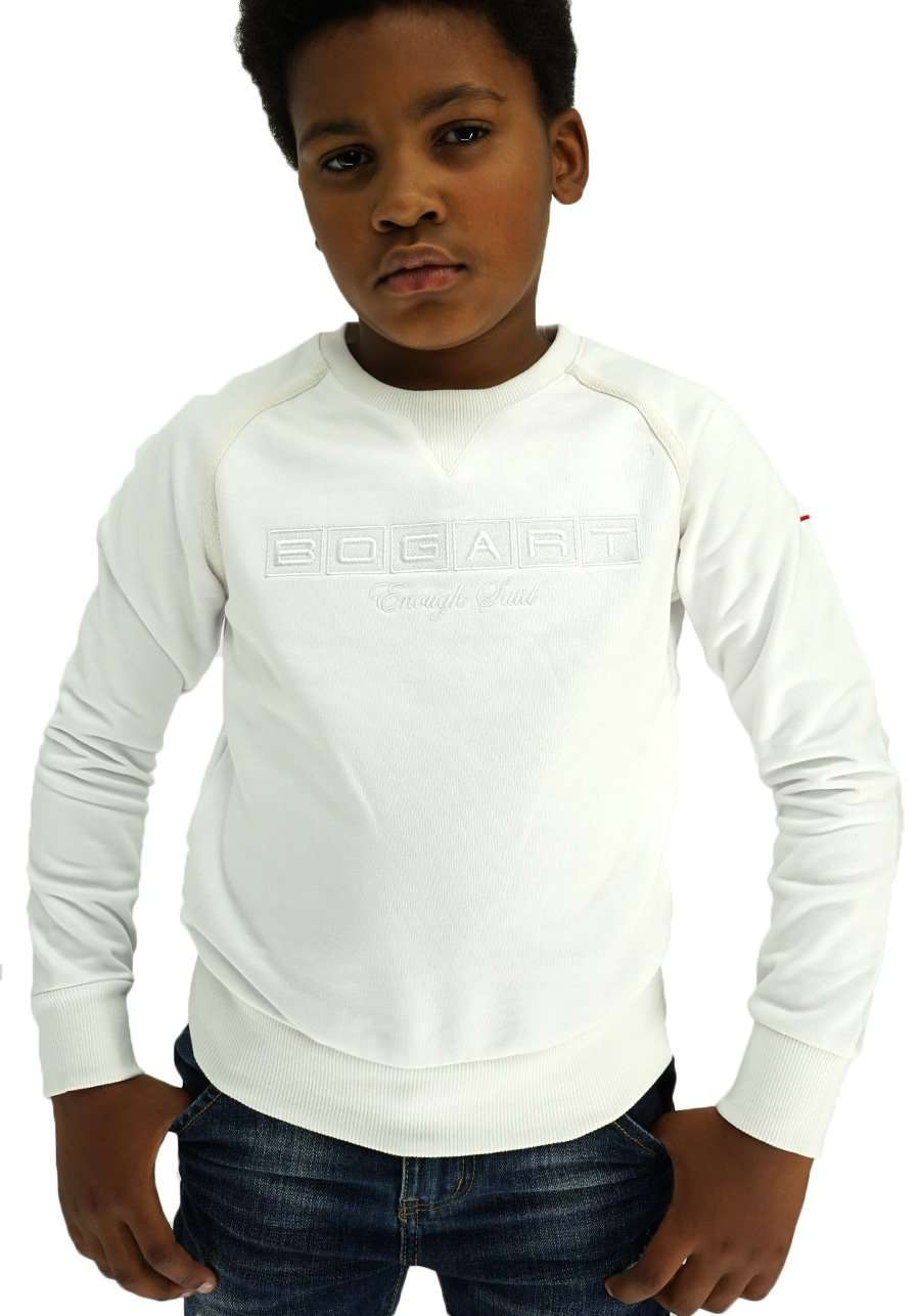 Junior Soft-Cotton Sweater front - White
