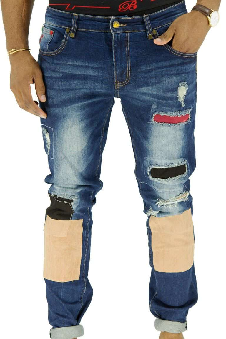 Shin-Patch SPOGI Denim front-bleu
