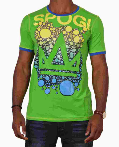 Spogi Royal Bubble Print crew neck T-shirt SKU: SPT07