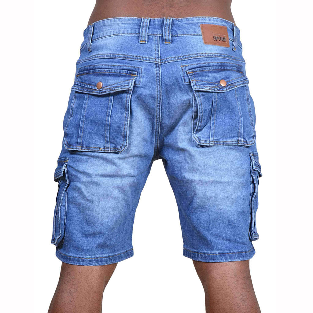 Spogi-Royal-Six-Pocket-Bermuda-Shorts-Blue-Front-SPB04