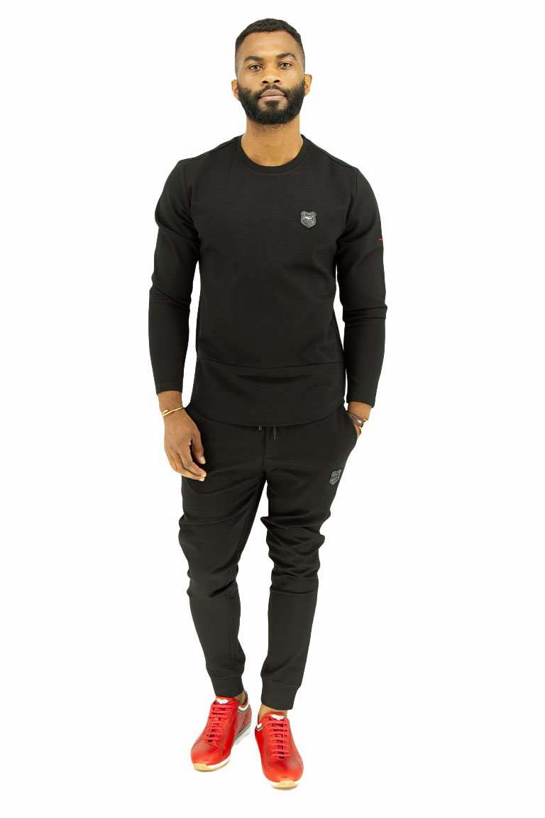 Bogart Space Track Suit-front-Black
