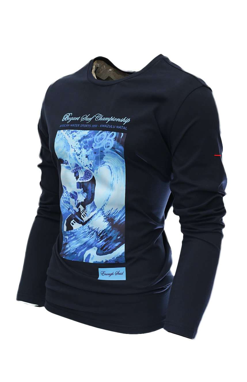 The Zulu Wave Sweater front-Navy