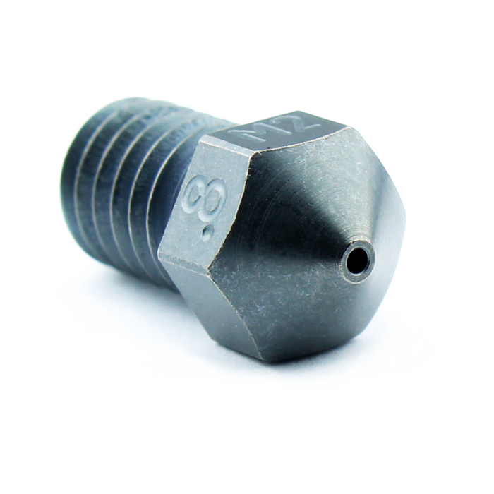 M2 Hardened High Speed Steel Nozzle RepRap - M6 Thread 1.75mm Filament