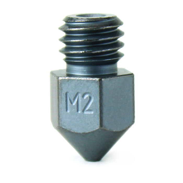 M2 Hardened High Speed Steel Nozzle - MK8 (CR10 / Ender / Tornado / MakerBot)
