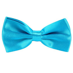 Light Blue Satin Pre-Tied Bow Tie