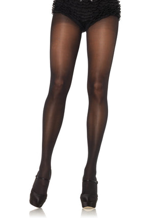Black Opaque Sheer to Waist Plus Size Pantyhose