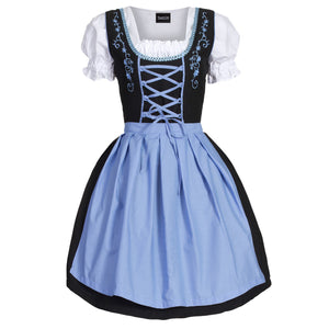 Authentic Black and Blue Oktoberfest Dirndl