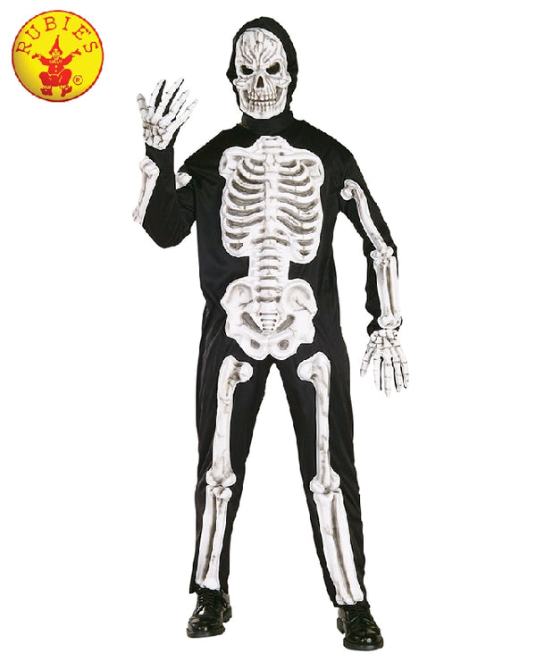 Adult Skeleton Suit with Mask Costume