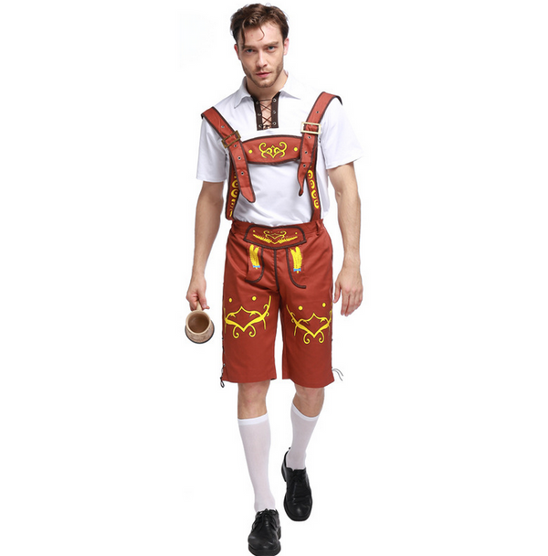 Brown Men's Oktoberfest Lederhosen