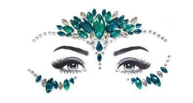 Emerald Extravagance Crystal Face & Body Jewels