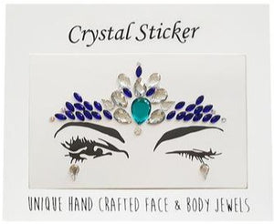 Astonishing Azure Crystal Face & Body Jewels