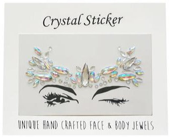 Silver Angel Crystal Face & Body Jewels