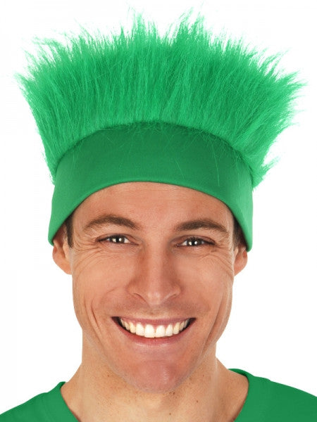 Green Fluffy Hair Headband