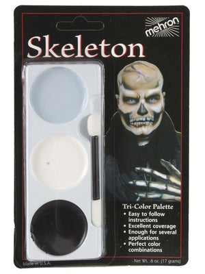 Tri-Colour Makeup Palette: Skeleton