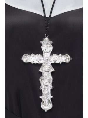 Ornate Silver Cross Necklace