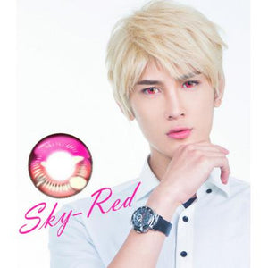 Sky Red Anime Contact Lenses