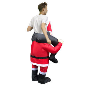 Inflatable Ride-On Santa Costume