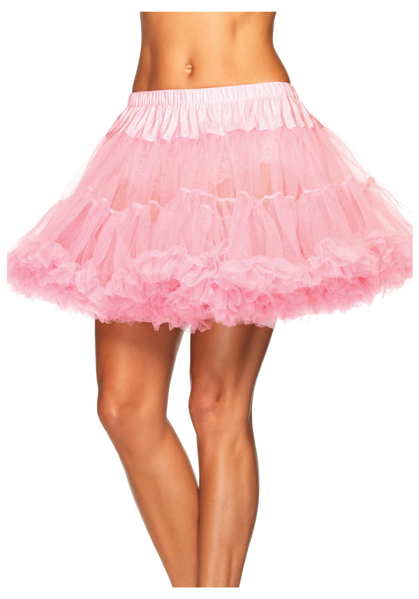 Deluxe Two Tiered Pink Petticoat