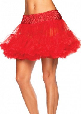 Deluxe Two Tiered Red Petticoat