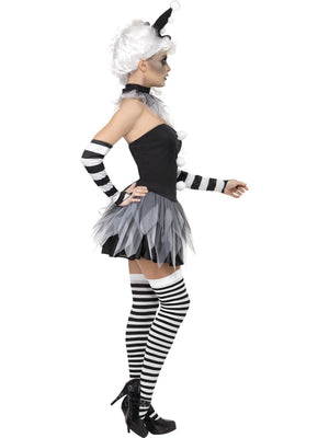 Black & White Pierrot Clown Costume