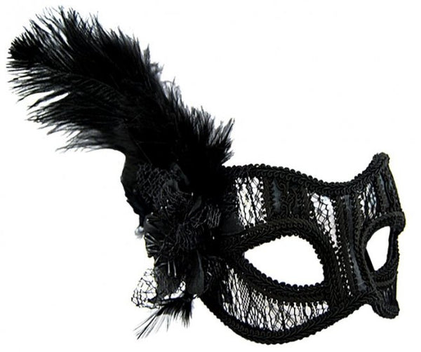 Black Lace Glasses Style Mask