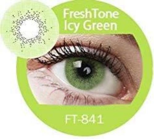 Freshtone Super Naturals: Icy Green Contact Lenses
