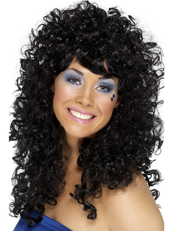 70's/80's Black Boogie Babe Wig
