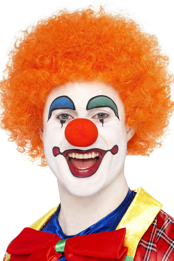 Orange Afro Clown Men's Wig