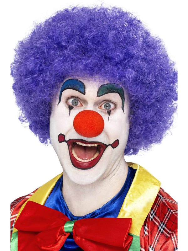 Purple Afro Clown Men's Wig