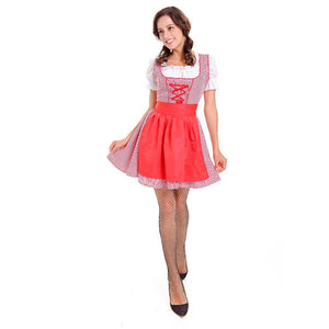 Red Checked Oktoberfest Dirndl