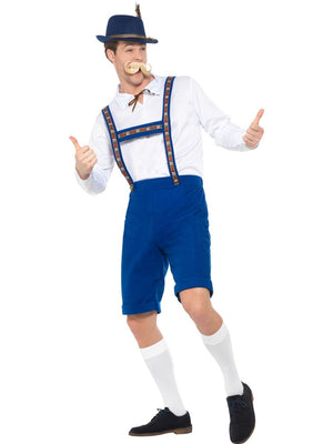 Men's Blue Lederhosen