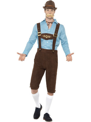 Classic Long Blue and Black Oktoberfest Costume