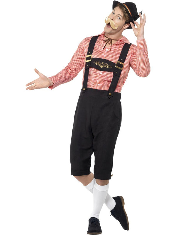 Classic Long Red and Black Oktoberfest Costume