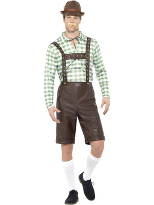 Green and Brown PVC Oktoberfest Costume
