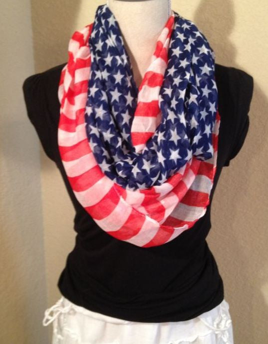 American Flag 4th of July Scarf