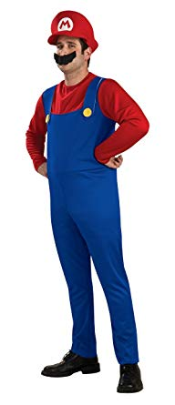 Long Sleeved Men's Mario Costume