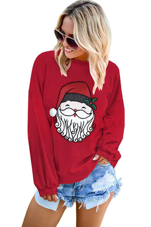 Santa Face Long Sleeved Christmas Shirt
