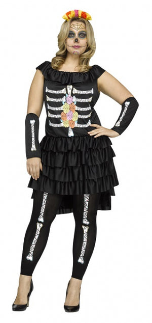 Plus Size Day of the Dead Ladies Costume