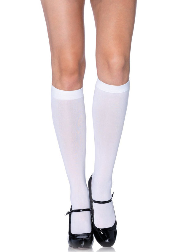 White Knee High Stockings